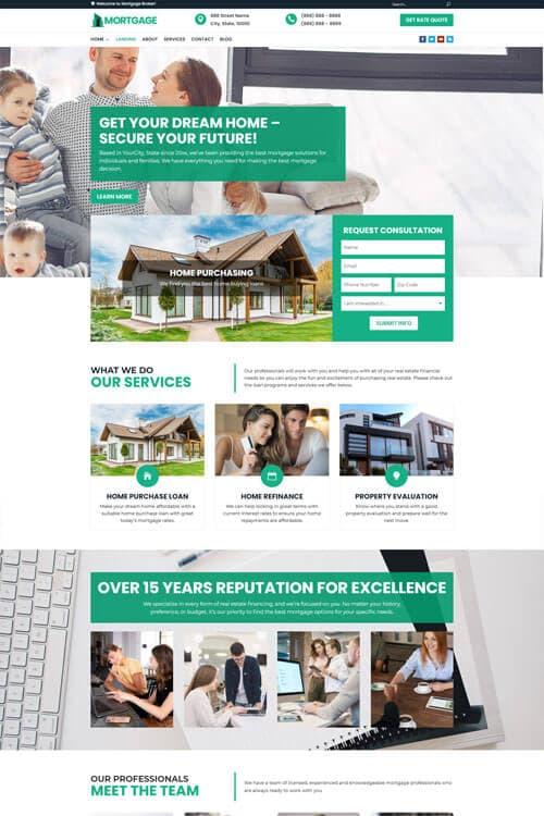 Mortgage Broker Web Design